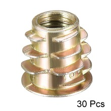 Uxcell Hot 30pcs/lot M5 M6 Zinc Alloy Thread Hex Socket Furniture Nut For Wood Insert Drive Head Length 8mm 10mm