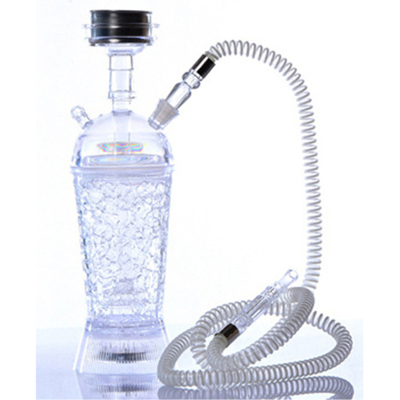Acrylic Hookah LED Light Smoking Bottle Hookha Metal Sheesha Bowl with Lighter Novel hookah