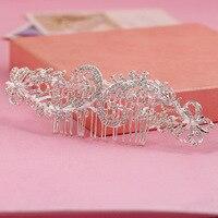 2016 mỹ rhinestone bridal lược chải tóc chèn comb tiara nhà sản xuất bán buôn phụ kiện tóc cô dâu
