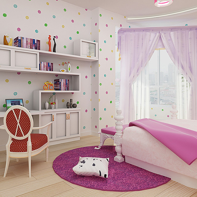 3D Wallpaper For Kids Room Wallpaper Designs Colorful Bubbles Wallpaper For  Girls Room Non Woven Wallpapers Light Pink Sky Blue In Wallpapers From Home  ... Part 35