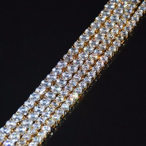 Image 3 - 4mm 5mm 6mm 1 Row Tennis Chain Zircon Necklace Hip Hop Jewelry Gold Color Copper Material Men Rock Link 18inch 20inch