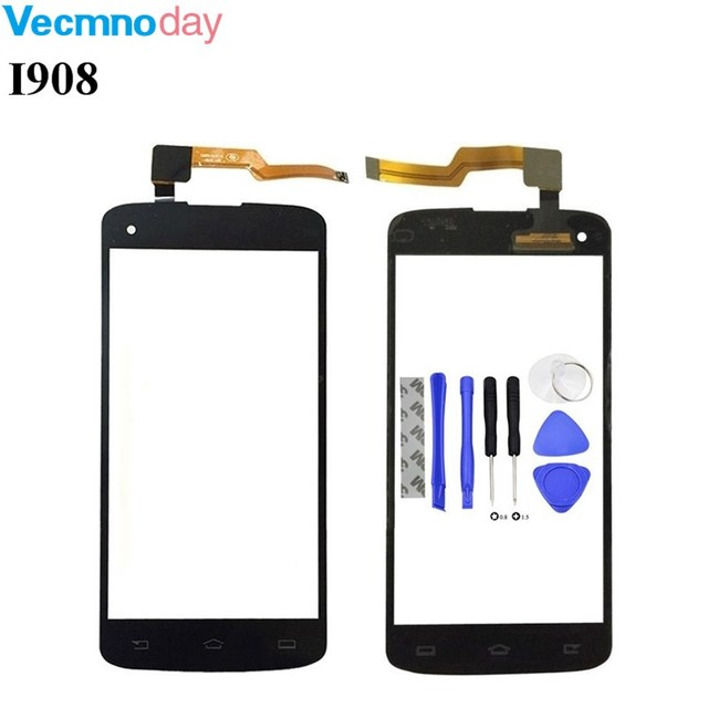 Vecmnoday 5.0''Original Black For Philips I908 Touch Screen Touch Panel TP For Philips I908 Smartphhone