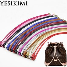YESIKIMI Bag Accessories Drawstring For Bucket Bag Quality PU Leather 100CM Length Bag Strap(China)