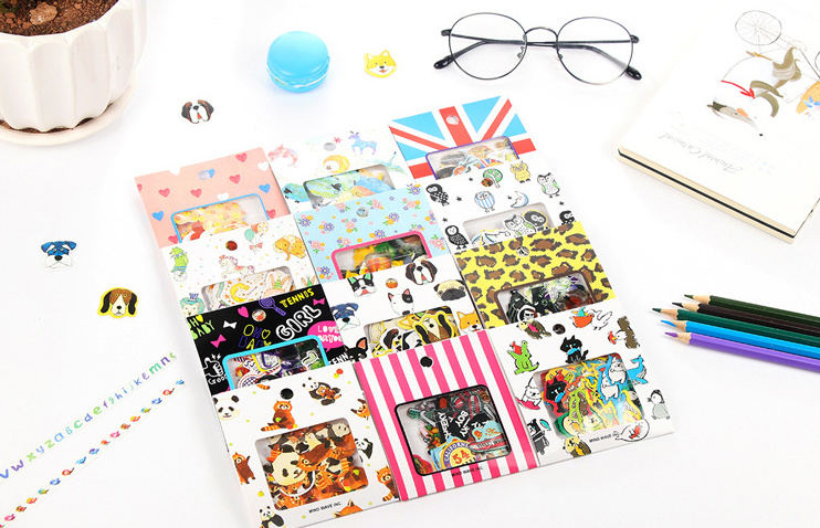 70pcs/pack Lovely Cat Dog Diary Decorative Stickers Multifunction Deco Label For Planner Diy Scrapbooking Sticker Papelaria