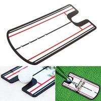 Golfe Putting Prática Putting Espelho Espelho Do Balanço Do Golfe Em Linha Reta Linha Alinhamento Auxiliares de Treinamento de golfe Instrutor Do Balanço Do Olho 31X14.5 cm