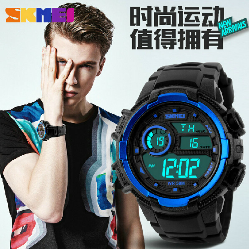 Digital alarm clock night light skmei couples women s sport watch he female waterproof LED valentine