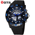 Top Men Digital Watch OTS Brand Men's Quartz water resistant LED Sports Watches Men Army Military Wrist Watch Relogio Masculino