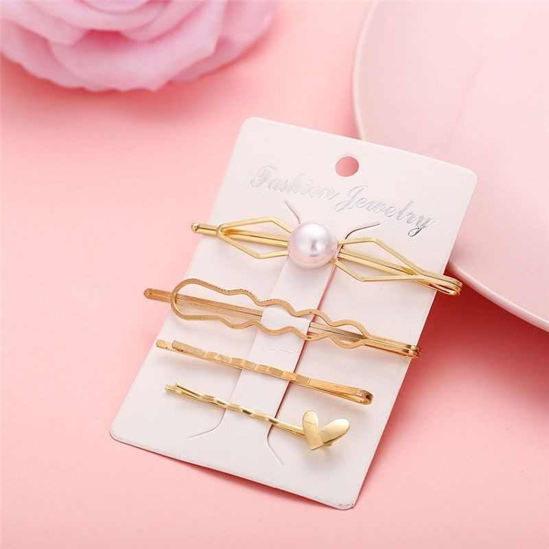 17KM Pearl Hair Clips Set Hot Fashion Hair Clips For Women 28 New Metal Star Hairpins 2019 Hairwear Jewelry Korean Accessories
