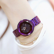 New Hot Sale No Digital Scale Watch High-end Chain Romantic Starry Surface Female Fashion & Casual  Chronograph