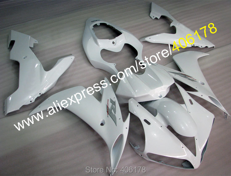 Hot Sales,For YZF1000 2004 2005 2006 YAMAHA YZF R1 04 05 06 YZFR1 YZF R1 All full white Fairing kit (Injection molding)