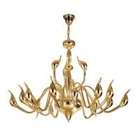 Art Deco swan LED Chandelier Light creative European gold black white chrome color metal body G4 3W LED bulb home decoration