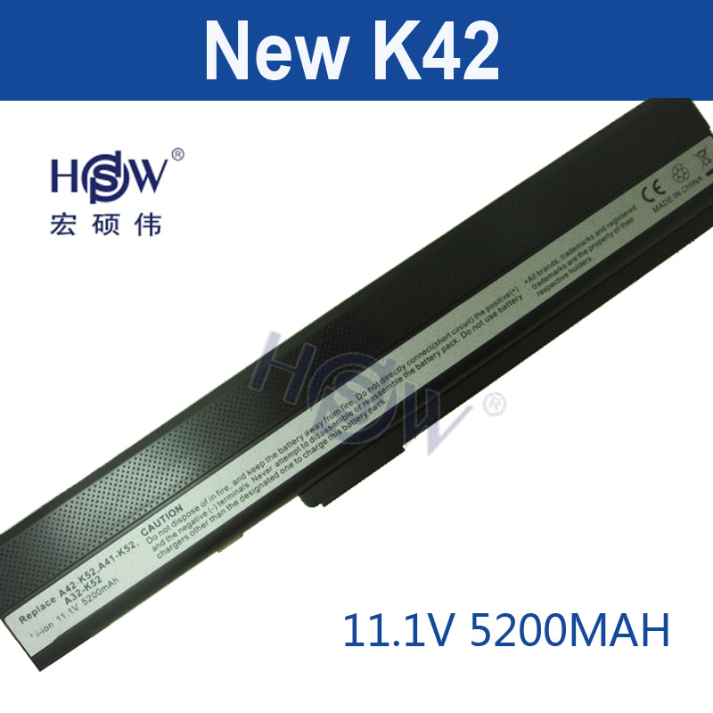 HSW laptop battery for asus K52 K52D K52DE K52DR K52F K52J K52JB K52JC K52JE K52JK K52JR K52N K62 K62F K62J K62JR bateria akku k52 k52j k52jr k52jc k52dr x52f k52f x52j for asus usb board original dc power jack board 60 nxmdc1000 k52jr dc board