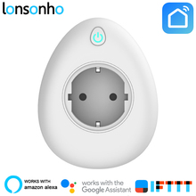 Lonsonho Wifi USB Smart Plug Socket 15A EU UK US Korea Outlet Power Monitor Energy Saver Works With Google Home Mini Alexa IFTTT
