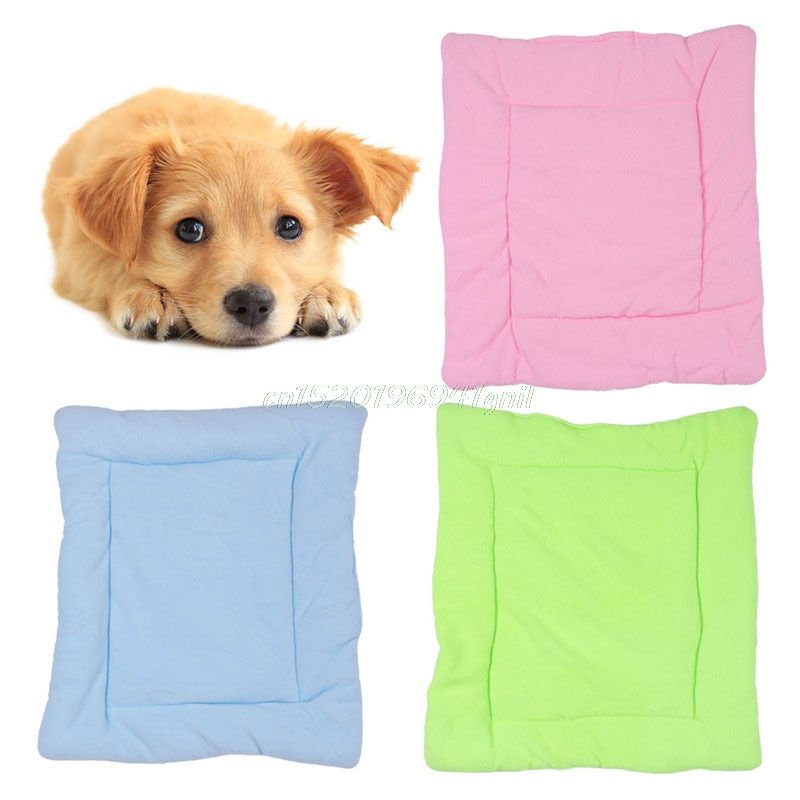 Pet Dog Crate Warm Bed Mat Kennel Cage Pad Fluffy Washable Travel Pet Cushion M Size Black Green Pink Pet Products#T025#