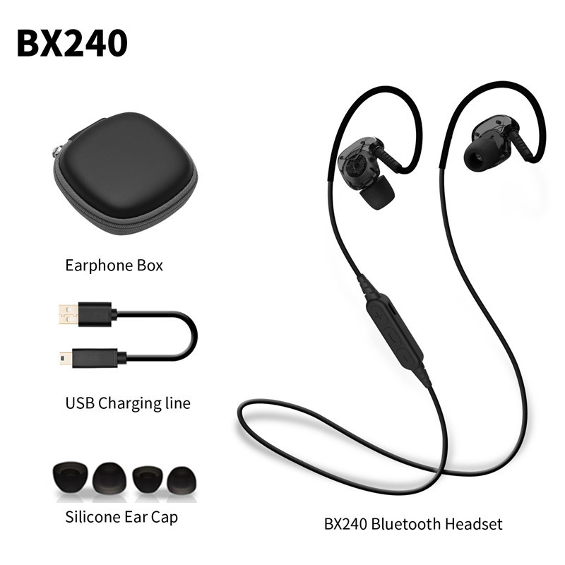 PLEXTONE BX240 Wireless Bluetooth Earphone Sweatproof Sport Headset Stereo Headsets With Mic for iPhone Samsung HTC Huawei new dacom carkit mini bluetooth headset wireless earphone mic with usb car charger for iphone airpods android huawei smartphone