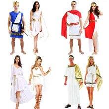f0977d7603 Delle donne Degli Uomini di Antica Grecia Angolo Cosplay Costume Festa di  Famiglia Adulti Costumi di Carnevale Vestito Purim di .
