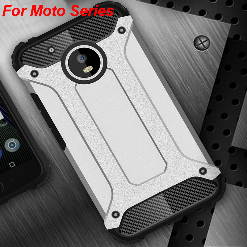 Strong Hybrid Tough Shockproof Armor Back Case Cover For Motorola G5 S Plus G4 Play G3 Moto M Force Z Play Hard Rugged