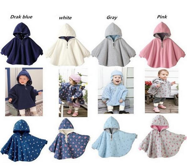 Primavera y Otoño de La Manera Outwear Capa Caliente Lindo de Dos caras Floral de mini Combi Infantil Del Bebé ropa de Abrigo Para Niños