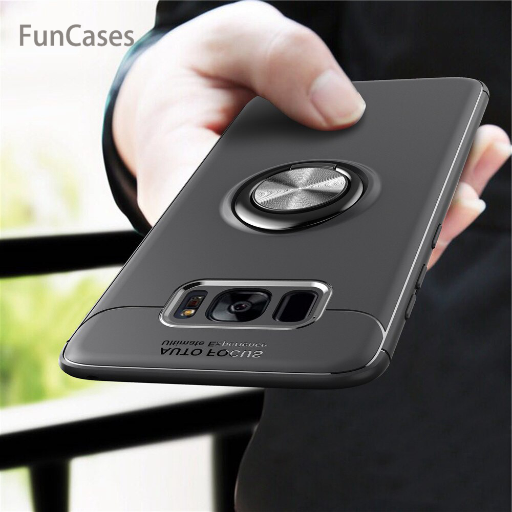 For Samsung Galaxy S8 S9 Plus Note 8 Case <font><b>J3</b></font> J5 J7 <font><b>2017</b></font> J330 J530 J730 Pro Case Cover Silicone Luxury Magnetic Ring Holder Funda image