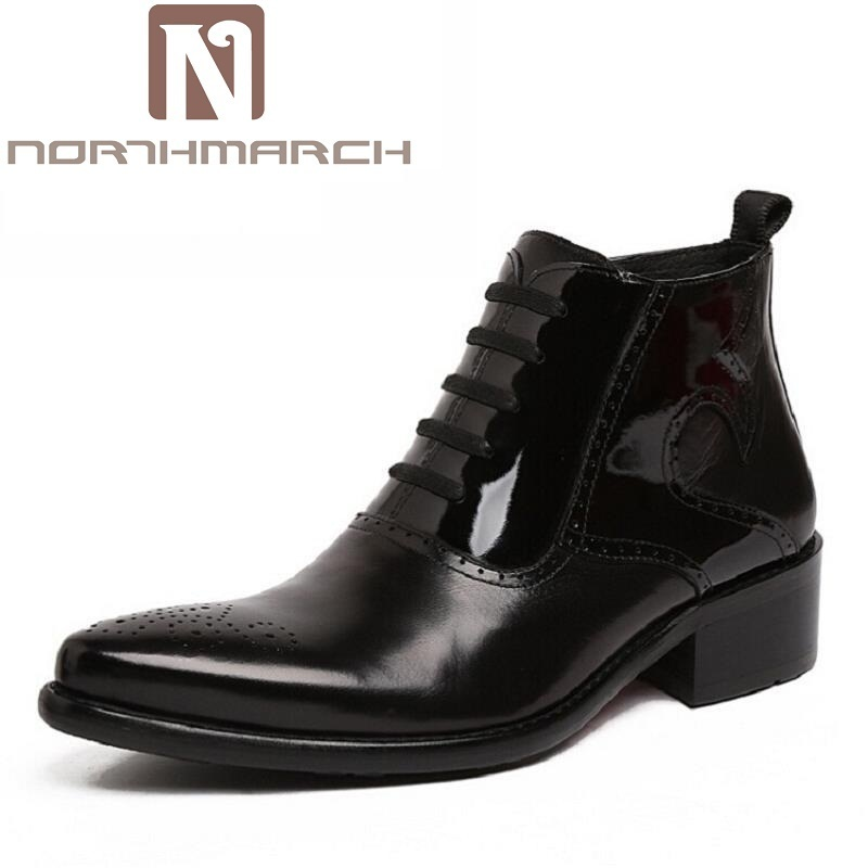 NORTHMARCH Autumn Winter Retro Men Boots Comfortable Zipper Brand Casual Shoes Leather Snow Boots Shoes Dark Red Bota Masculina 2017 new autumn winter british retro men shoes zipper leather breathable sneaker fashion boots men casual shoes handmade