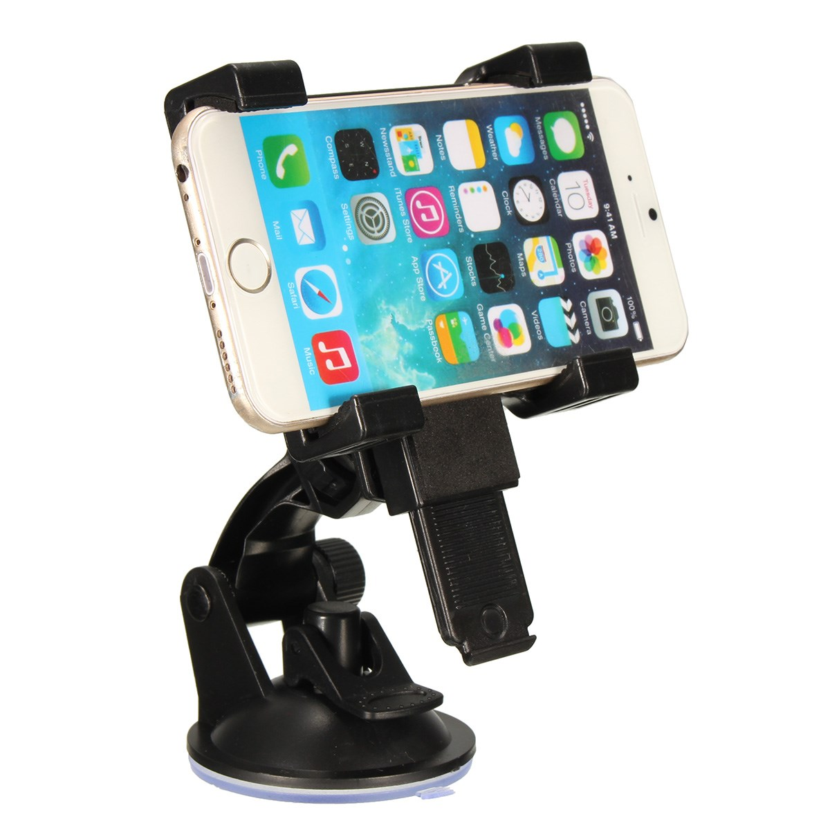 6.5-14cm Universal Width 360 Adjustable Car Phone Holder Suction ...