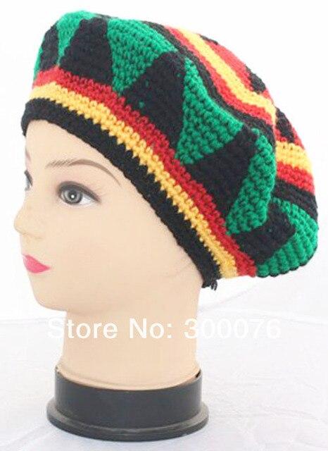 Gorra de ganchillo hecha a mano de boina Hippie disfraz de fiesta en ... 5ea04c5213c
