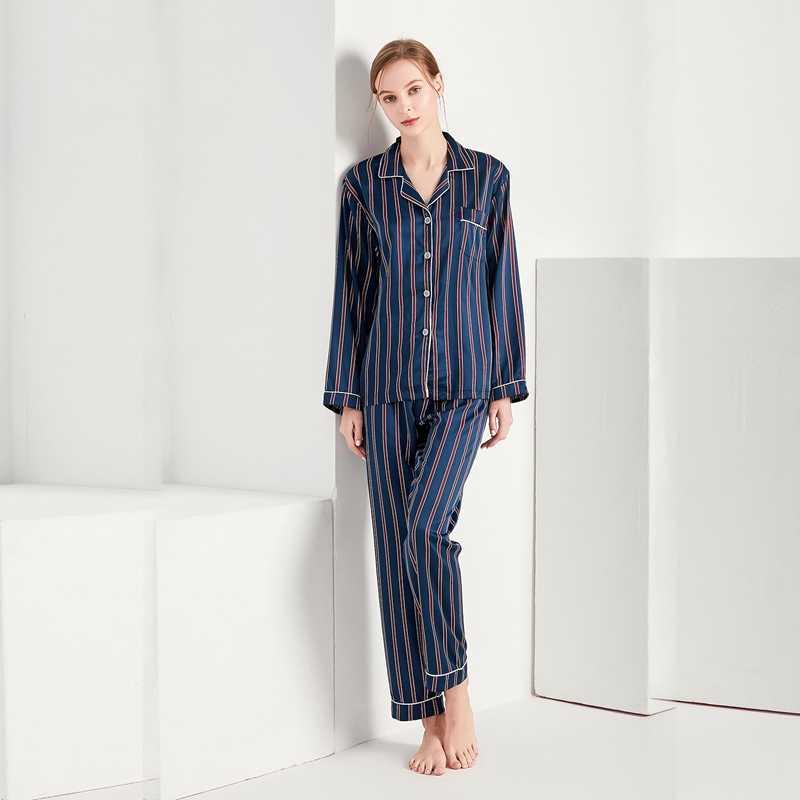 ... Women Sexy Silk Satin Lingerie Set Nightgown Striped Sleepwear For Ladies  Pyjama Femme Pijama Sets Nightwear ... 4e4cb1193