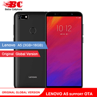 Original Global Lenovo A5 Phone L18021 Support OTA 4G LTE 4000mAh 5.45 Inch MT6739 Quad Core 3GB RAM Andorid 8.1 Smartphone
