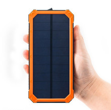 solar 30000mah Power Bank External Battery charge Dual USB Powerbank Portable phone Charger for iPhone 8 XS max Xiaomi 7 8plus