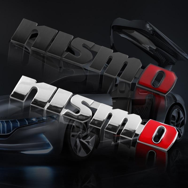 1pc Metal NISMO Car Stickers Emblem Decal Badge For Tiida GTR Teana Skyline Juke X-trail Almera Qashqai Car Styling Accessories