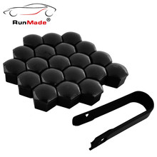 For VW Audi Skoda Seat 20Pcs/lot Black Wheel Lug Nut Center Cover Caps 321601173A with Removal Tool