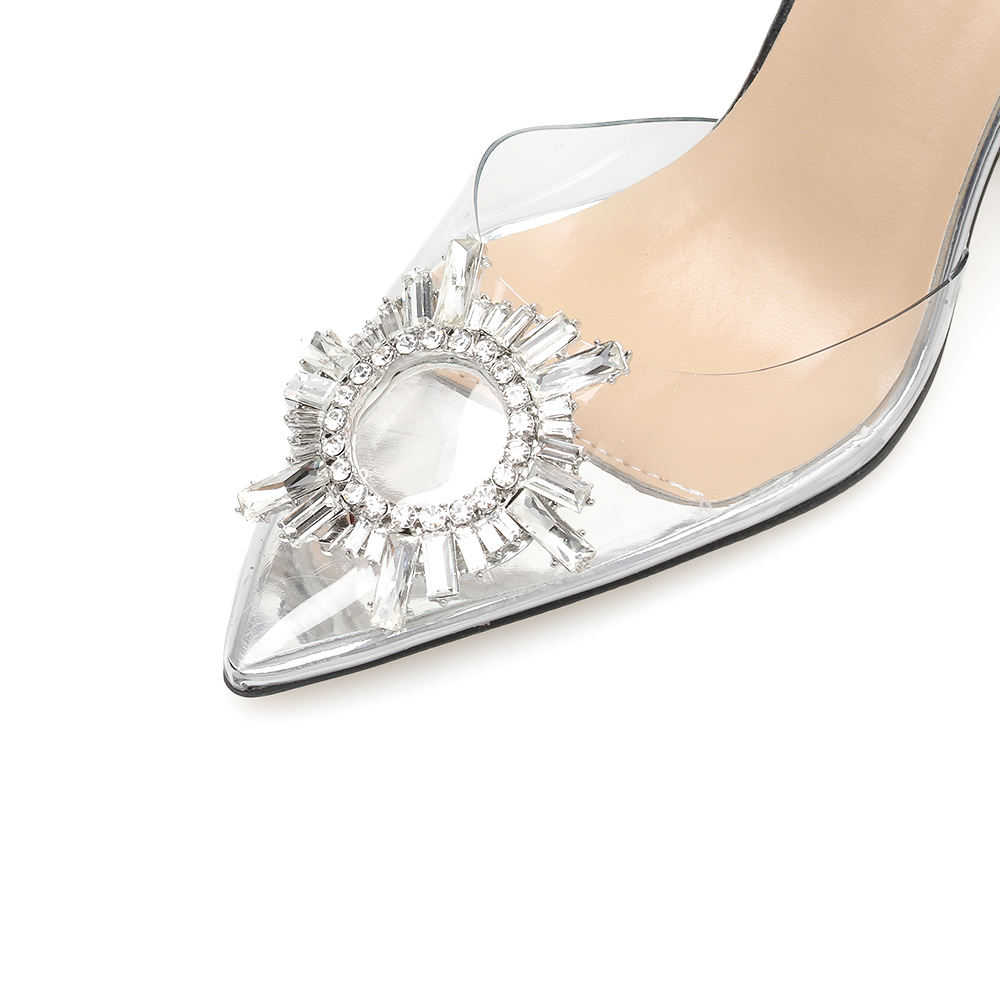 Pointed Transparent Slingback High