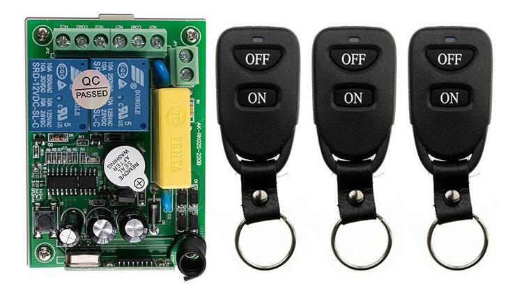 New AC220V 2CH 10A Remote Control Light Switch Relay Output Radio Receiver Module and 3 pcs Belt buckle Transmitter ac 380v 63a 3 pole 2 knife switch circuit control opening load switch