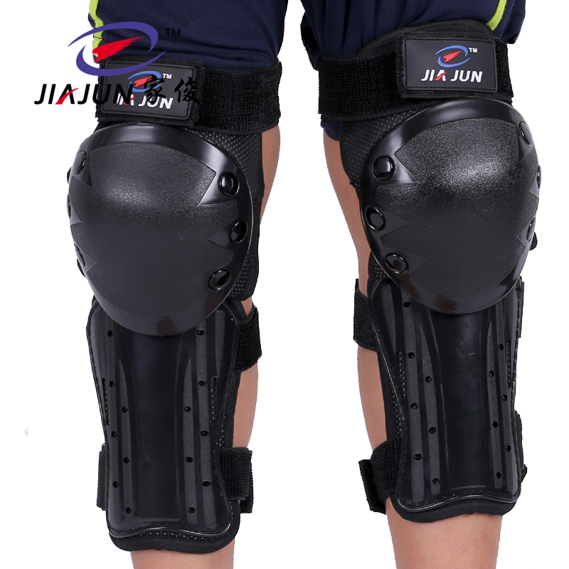 JIAJUN Motorcycle Long Knee Pad Elbow Protector Motorbike Racing Thick Stainless Steel Riding Protective Gear Protection Armor