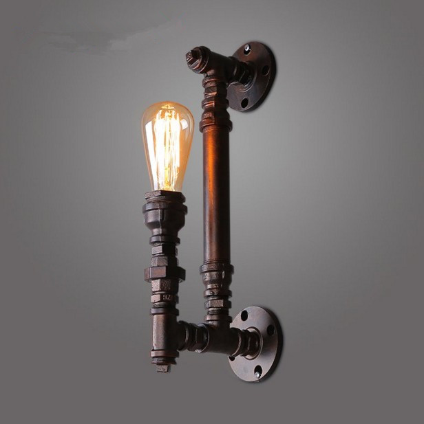 Vintage Wall Lamps Retro industrial METAL PIPE Edison Bulb Art Deco Wall Light Fitting svs pc12 plus