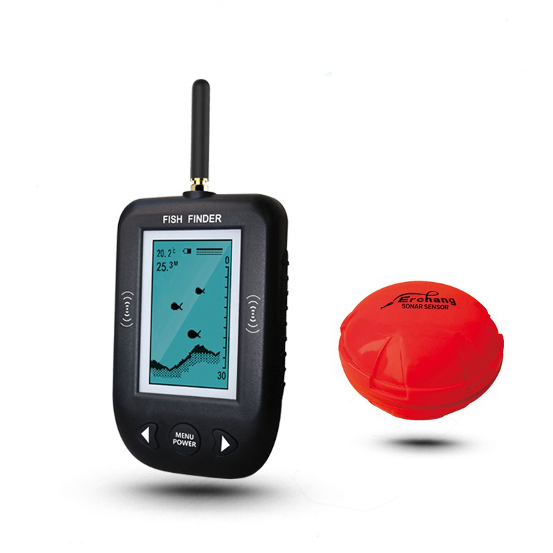 Wireless Fishing Sounder 36m Depth Portable Sonar LCD Fish Finder Alarm Transducer Sea Ice Fishing Sonar Fishfinder K8356 portable fish finder bluetooth wireless echo sounder underwater bluetooth sea lake smart hd sonar sensor depth