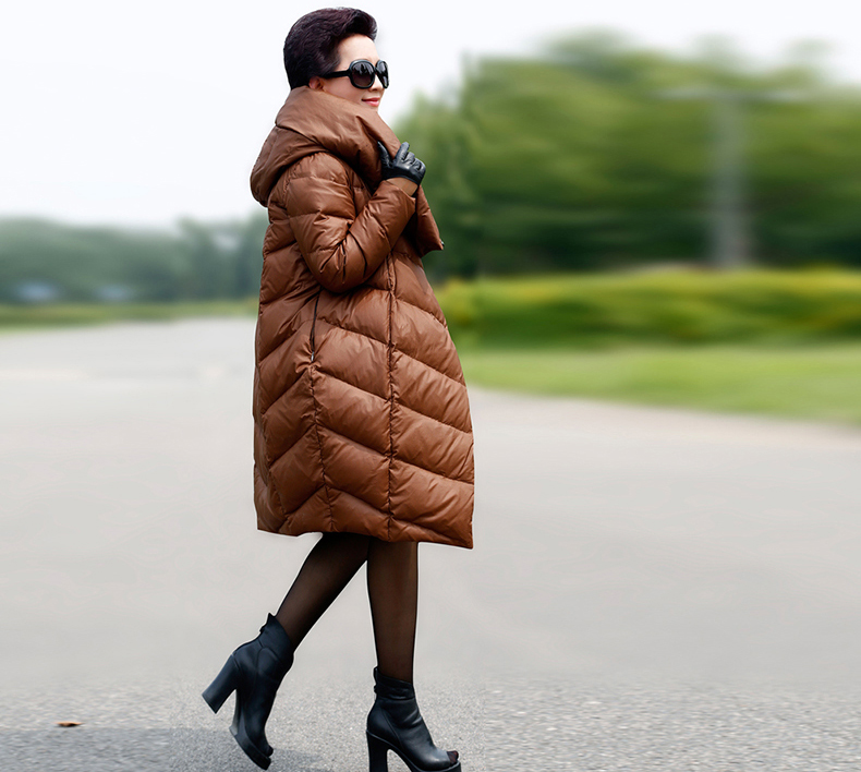 2018 new big yards loose cocoon black red brown navy blue Women's   down   jacket Hot Products plus size   coats