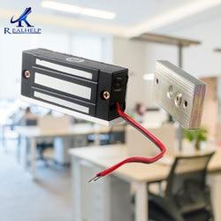 60kg fuerza 12VDC gabinete de instalación Visible cerradura magnética Mini gabinete archivador cerradura pequeña cerradura magnética acceso NC
