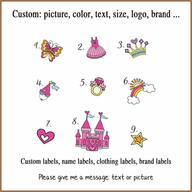Custom Name Label Children S Clothing Ironing Boy And Tag