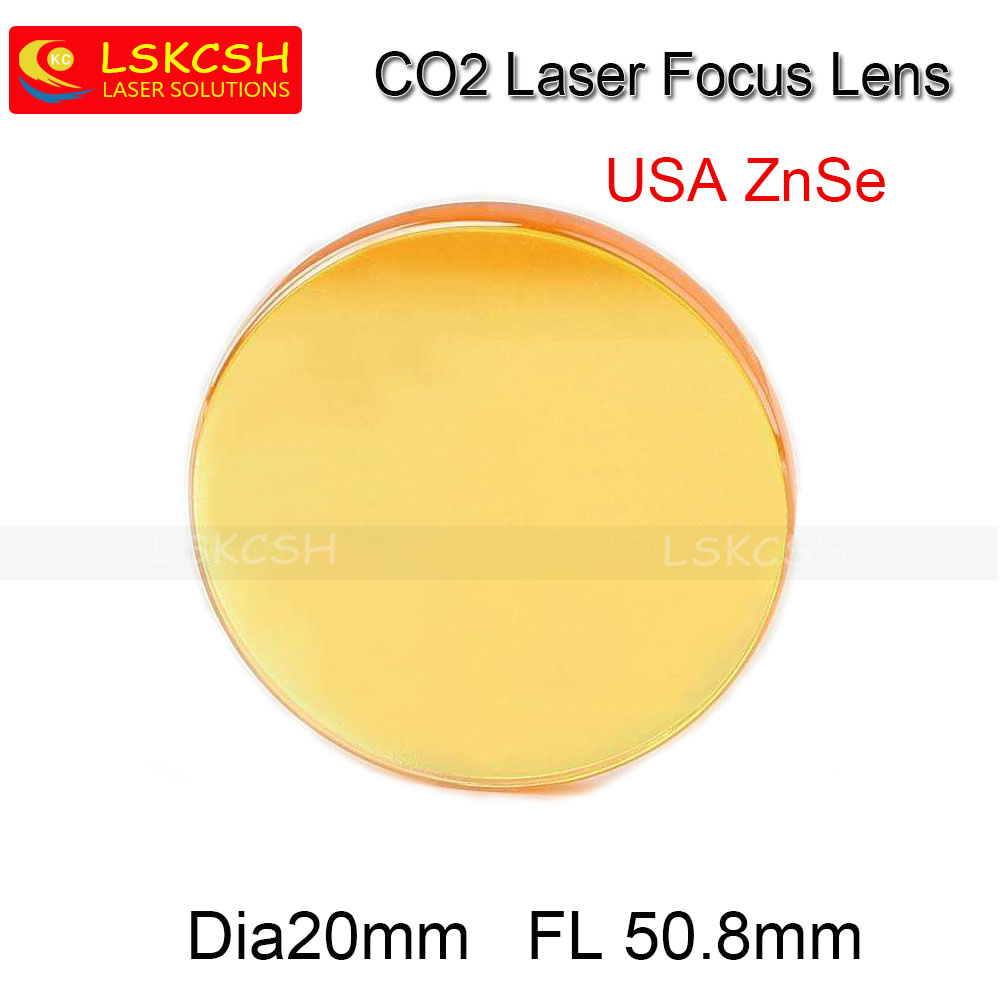 Free Shipping High Quality USA ZnSe CO2 Laser Focus Lens Dia.20mm Focal Length 50.8mm For Trotec Speedy 100/GCC Co2 Laser machin цена