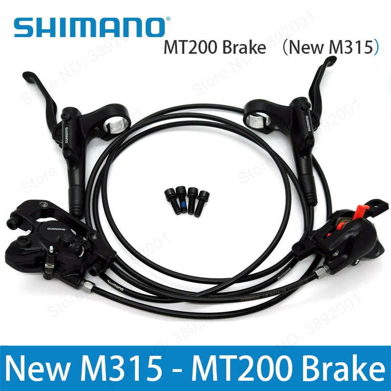shimano BR-BL-MT200 (New M315 ) Brake bicycle bike mtb Hydraulic Disc brake set clamp mountain bike Brake Update from M315 Brake shimano m315 mtb bike hydraulic disc brake set clamp mountain brake bicycle disc brake original bicycle brakes free ship