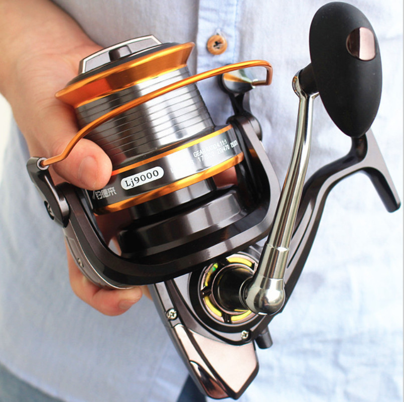cheaper fishing reel Full Metal Fishing Reels 5000 9000 Size 12+1 Ball Bearings Type Anti seawater corrosion casting Reel