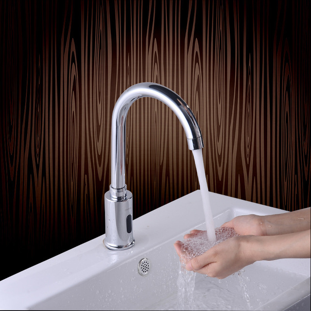 CE Certificate Brass Chrome Sensor Tap Water Saving Faucets Cold Hot ...