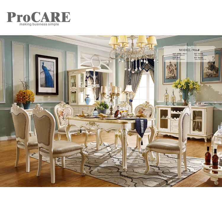 Best Price Fashion Marble Top Dining Table Set For Sale