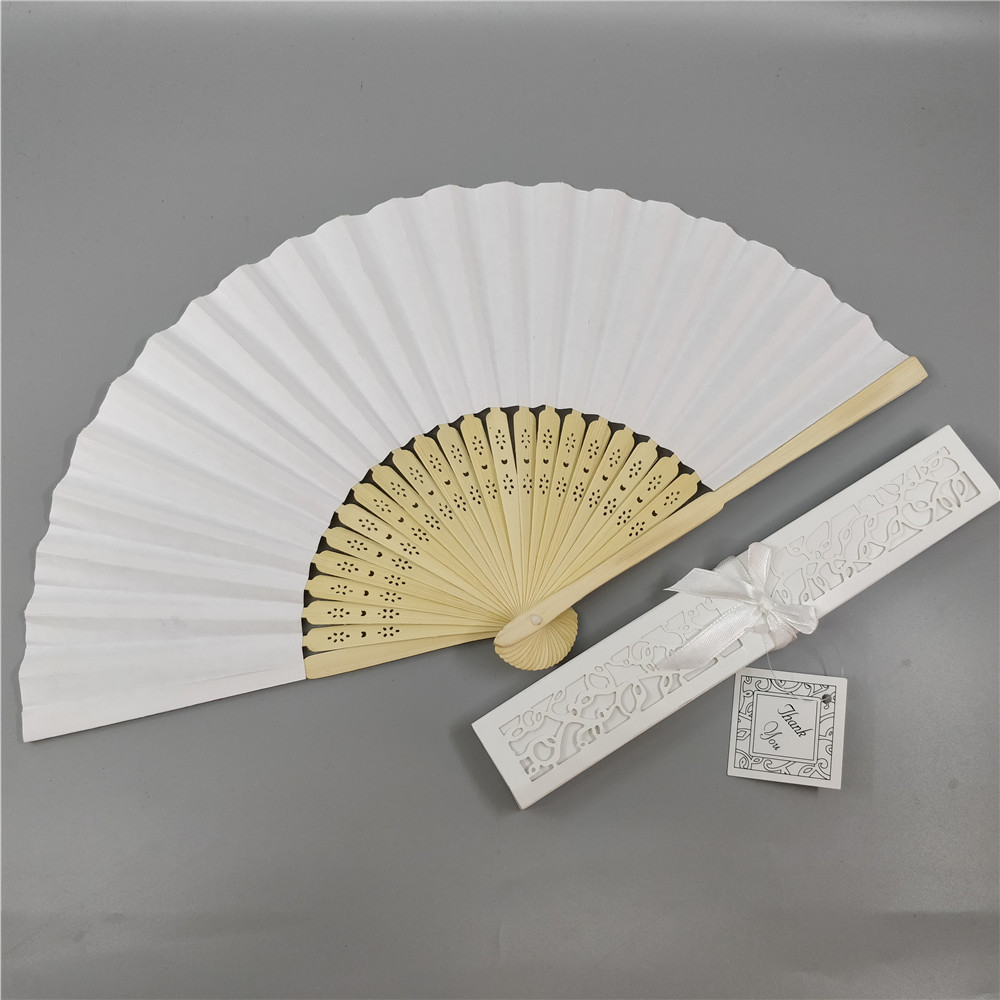 Personalized Chinese Hand Paper Fans Pocket Folding Bamboo