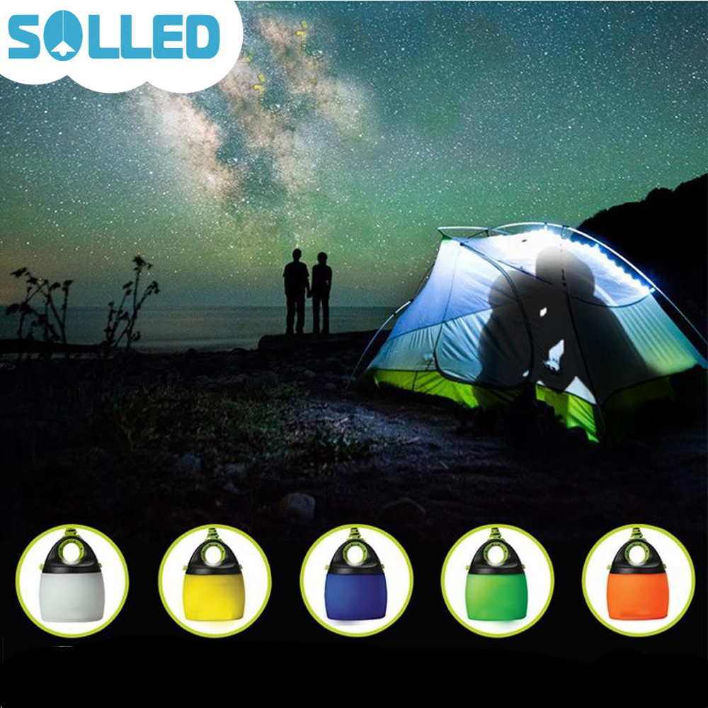 SOLLED Chainable LED Tent Light Mini USB Powered Outdoor Camping Light