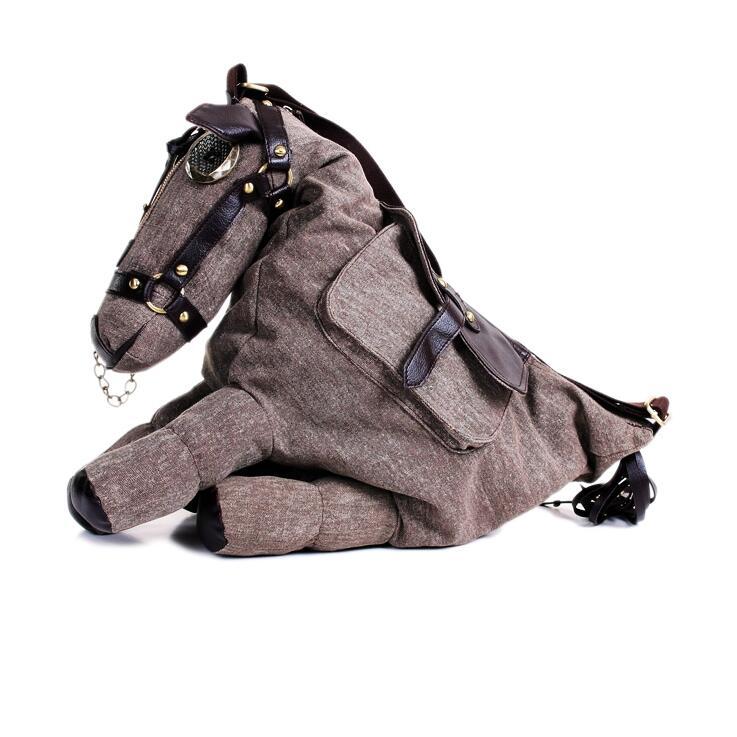 RUILANG New Women 2018 Designer Canvas Horse Handbags Large Shoulder Bags Crossbody Bag Ladies Tote Bag Famous Brand Women Bags