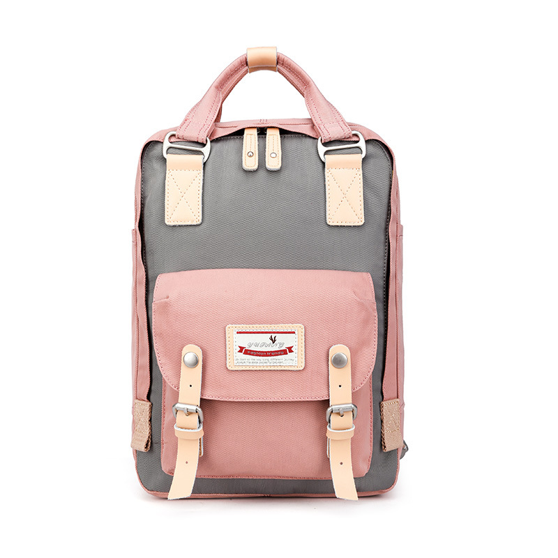 Pink Girl Oxford Cloth Backpack Women School Bags Female Travel Bag College for Notebook Computer Bolsa Mochila Feminina Kanken dispalang personalized geometric backpack for laptop notebook school bags for college students men s travel bag rucksack mochila