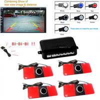 Car Video Parking Sensor Reverse Backup Assistance Radar Image All In One System 16mm Flat Sensors