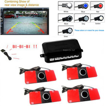 Car Video Parking Sensor Reverse Backup Assistance Radar image all-in-one System + 16mm Flat Sensors 7 Colors